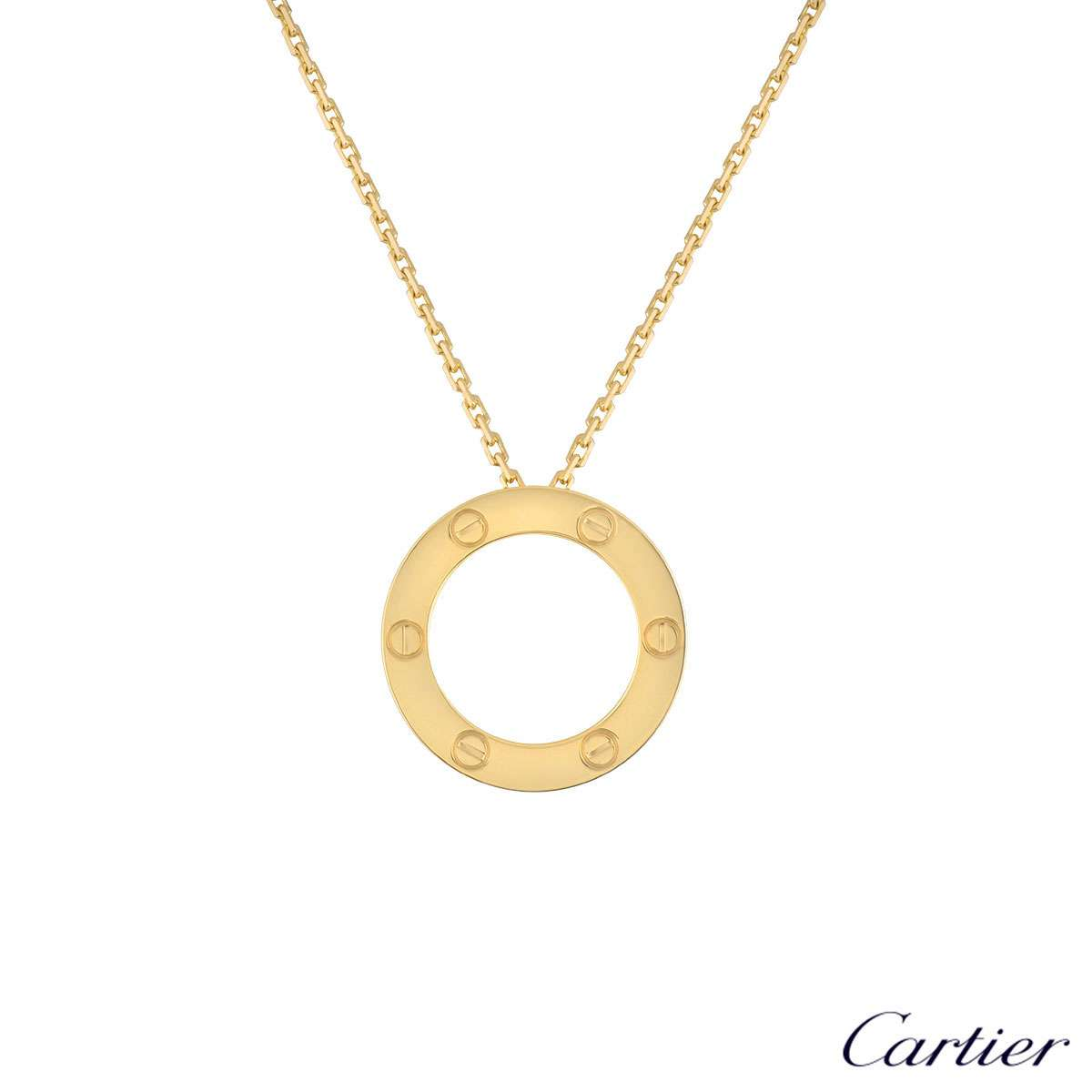 Cartier Yellow Gold Plain Love Necklace B7014200